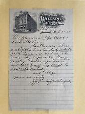 Vintage Letterhead Willard Hotel March 28, 1915 See Discription