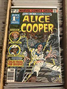 MARVEL PREMIERE 50 KEY BOOK 1st ALICE COOPER COMIC TOM SUTTON 1979 nurse rozetta