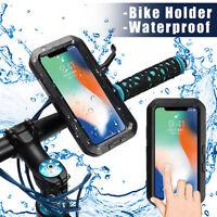 IPX8 Etanche Housse Coque Brassard Vélo Moto Guidon Support Pour iPhone Samsung