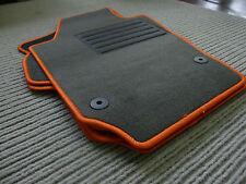 $$$ Original Lengenfelder Fußmatten passend für VW Polo 6R + Rand ORANGE + NEU