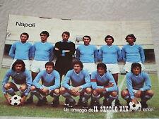 CARTOLINA NAPOLI SQUADRA 1975/76 CALCIO AUTOGRAFI CALCIATORI - JULIANO SAVOLDI