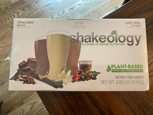 Shakeology Protein Shake Powder 24 Packets Chocolate Vanilla Cafe Latte Vegan
