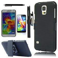 Belt Clip Holster W/stand Hard Case Cover For Samsung Galaxy S5 S V i9600 G900