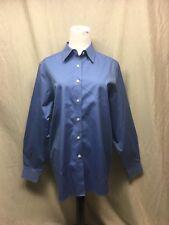 Orvis Ladies Cotton Wrinkle Free  L/S Shirt Blue ,Size 10 - EUC