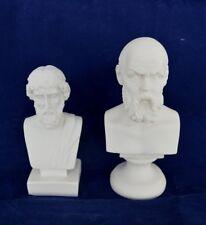 Plato and Socrates sculpture busts statue ancient Greek philosophers set