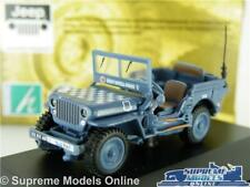 WILLYS JEEP MODEL CAR CJ-2A MILITARY ARMY OPEN 1:72 CARARAMA BLUE VEHICLE RAF K8