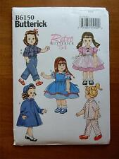 """BUTTERICK PATTERN B6150  FOR AMERICAN GIRL OR 18"""" DOLL"""