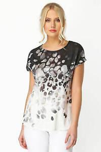 Roman Originals Natural Ombre Foil Print Knit T-Shirt Size 14 (MM606)