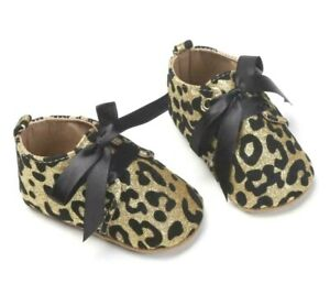 Baby Girl Soft Sole Leopard Print Moccasins