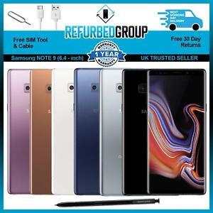Samsung Galaxy Note 9 - 128GB 512GB - Unlocked SIM FREE Various Colours
