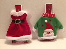 Ugly Christmas Sweater Wine Holiday Bottle Covers Dinner Party Gift Santa Mrs
