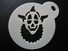 Laser cut small clown face design cake, cookie,craft & face painting stencil