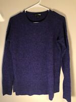 Aqua Women's Cashmere Hi Low Long Sleeve Pullover Sweater Xtra Small XS EUC