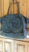 Valentino Garavan Rose Petal Denium Dark Blue  Handbag 100% Authentic