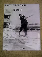 MICKEY MANTLE NEW YORK YANKEES 11x14 B&W PHOTO HITTING SNOWBALL AT STADIUM 1957