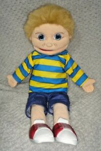 """Boy With Yellow & Blue Striped Shirt 22"""" Hand Puppet (The Puppet Company)"""