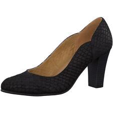 CAPRICE Classic Court  Women's Shoe Black Reptile Size UK 6 EU 39 NH08 26