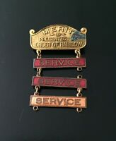 Vintage Order of the Rainbow for Girls Merit Service Award Pinback Freemasonry