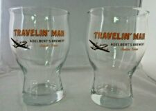 Adelberts Austin Brewery Traveling Man Beer Glasses Craft Microbrew Rare New