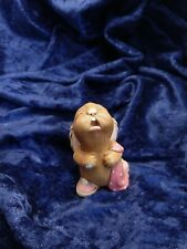 "Vintage Pendelfin ""Barney"" Rabbit w/ Pink Blanket & Shoes - Made in England"