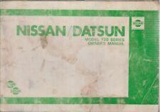 NISSAN/Datsun F20 SERIES CAMION 1.6 2.0 Benzina & 2.2 DIESEL 1980 manuale del proprietario