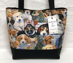 Adorable Puppy Dogs Plush purse bag Handcreated By Jenny