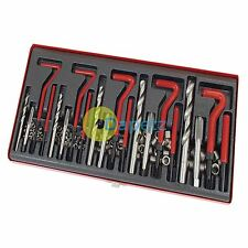 131 Pc Helicoil Thread Rethread Repair Kit M5 M6 M8 M10 M12  Metric Twist Bits