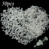 50X Mini Clear Plastic Stem Rubber Anti-Allergy Ear Stud Replacement Earring Kit