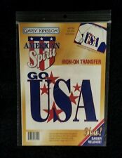 Vintage 1996 Daisy Kingdom Patriotic Go USA Iron On Transfer 37704 - NIP