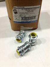 """TC711A Thomas&Betts 1/2"""" Compression Connector For EMT Conduit Insulated Qty.50"""