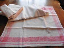 Nappe + 7 serviettes  anciennes damasse Napoléon III Mono C B