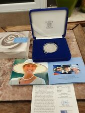 More details for 1999 royal mint princess diana memorial silver proof five pound £5 coin coa box