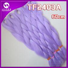 "24"" Light Purple Kanekalon Jumbo Braiding Synthetic Hair Extension Twist Braids"