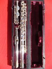 BC COOPER Schreiber -RE- versilberte Querflöte flute flauta flauto
