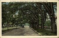 St Charles Avenue Live Oaks New Orleans ~ 1925 to Frank Hess Arkansas City KS