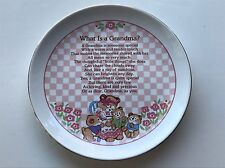 What is a Grandma? Heirloom Editions Paula Gold Rim Porcelain Collector's Plate