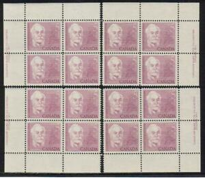 1963 Canada SC# 410 Sir Casimir Gzowski Plate # 1 Plate Blocks of 4 M-NH # 203
