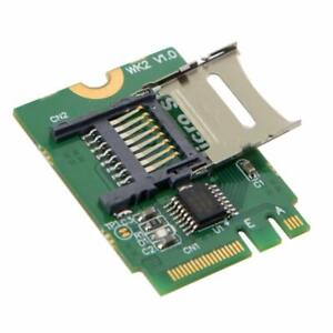 Sintech M.2 Micro SD Card,TF SDHC SDXC to NGFF Key A-E Adapter Reader Card