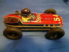 Vintage Friction Tin Toy Race Car No. 54-Rocket (Numbered 79 on bottom of car).