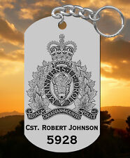 Royal Canadian Mounted Police Steel Keychain, Personalized FREE, RCMP, Mountie