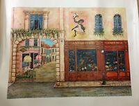 "Vessela Kolibarova ""Summer In Paris"" Giclee on Canvas Ltd. Edition Signed w/COA"
