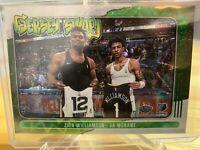 2020-21 NBA Hoops Zion Williamson Ja Morant Jersey Swap Green Explosion 14/89
