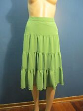 Size 16 green LINED FLOWING PEASANT skirt by GEORGE