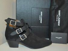 NIB $995+ SAINT LAURENT Rock Studded Bootie Ankle Boot Black Suede 36.5 - 6.5