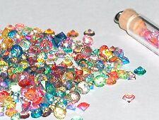 30pc Mix Lot Tiny Crystal Ball nail micro fairy rice vial art Ab Rainbow Nw