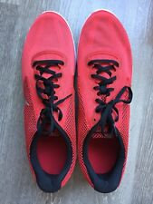 RARE Size 15 Nike Revolution 3 shoes University Red Metallic Silver