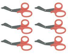6 Red Utility Scissors Emtems Shears Bandage Paramedic Nurse Supplies 725