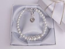 Retirement gift sorry you're leaving  Pearl Bracelet Personalised message box