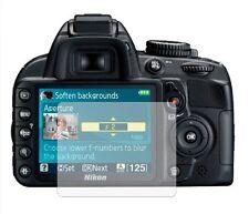 Pack 2 protections écran protéger film de garde de couverture pour d3100 reflex numérique (DSLR)