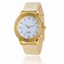 Fashion Women Watch Crystal Mesh Stainless Steel Band Analog Quartz Wrist Watch
